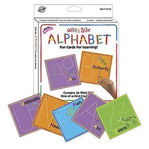 Carte alphabet Wikki Stix
