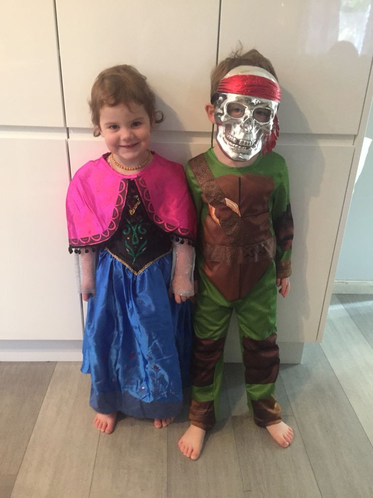 Kids dress ups. Frozen Anna costume and ninja turtle pirate?