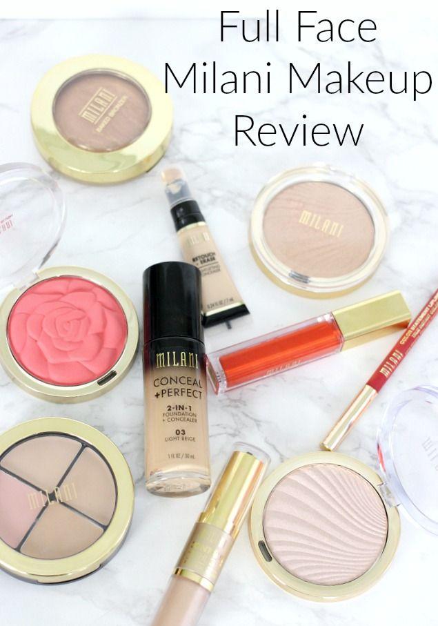 Full Face Milani Makeup Review Milani Makeup Makeup Reviews Drugstore Makeup