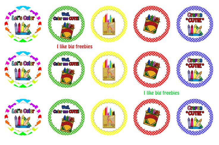 I like big freebies: Crayon cutie bottlecaps
