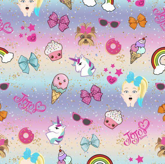 Jojo Siwa Fabric Cotton Fabric Knit Fabric Rainbow Fabric Food Fabric Bow Fabric Unicorn Fabric Fabric By Th Jojo Siwa Jojo Siwa Birthday Jojo Siwa Bows