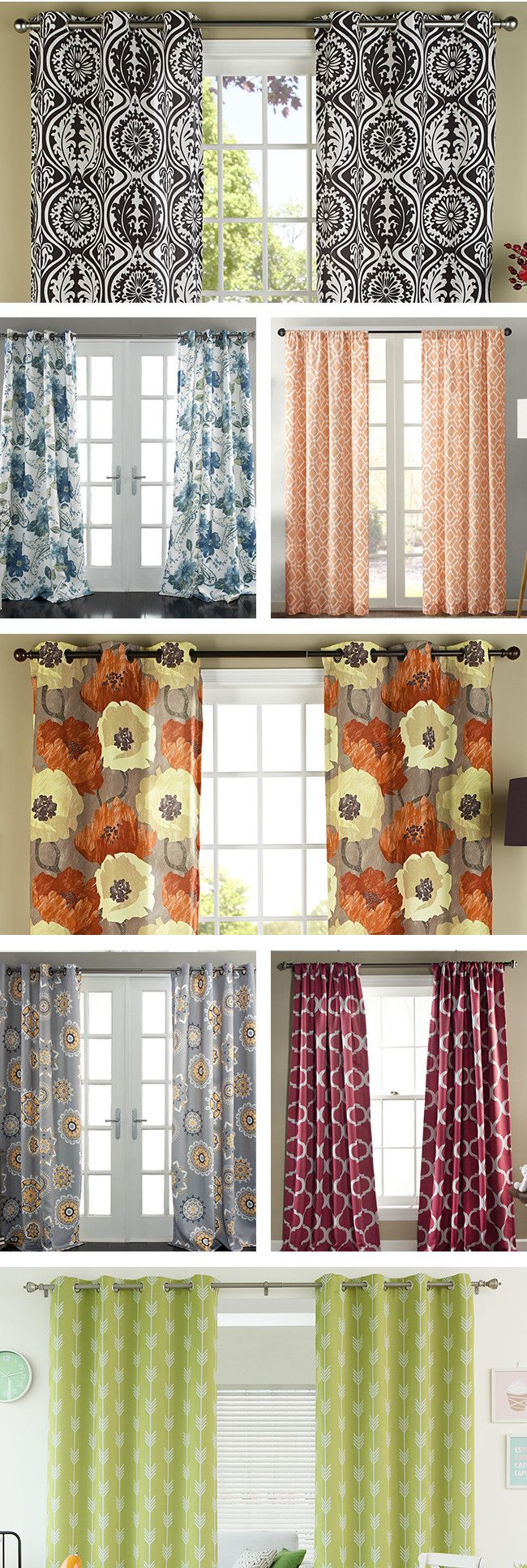 Uncategorized/birch tree fabric window panels/all products home decor window treatments curtains - Treat Your Windows To An Upgrade With Patterned Curtains Vertical Stripes Make Windows Appear Taller
