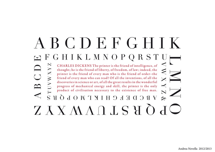 From the typographic studies of Hermann Zapf