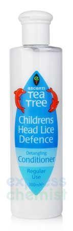 Escenti Tea Tree Childrens Head Lice Repellent Escenti Tea Tree Childrens Head Lice Repellent Conditioner 300ml: Express Chemist offer fast delivery and friendly, reliable service. Buy Escenti Tea Tree Childrens Head Lice Repellent Conditioner 300 http://www.MightGet.com/january-2017-11/escenti-tea-tree-childrens-head-lice-repellent.asp
