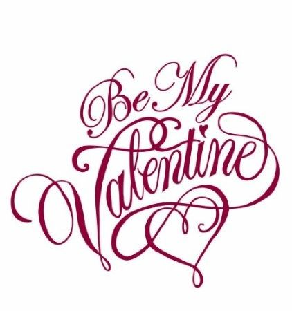 Pretty V-Day card calligraphy. // Superbe calligraphie afin de garnir vos cartes de St-Valentin. #ValentinesDay