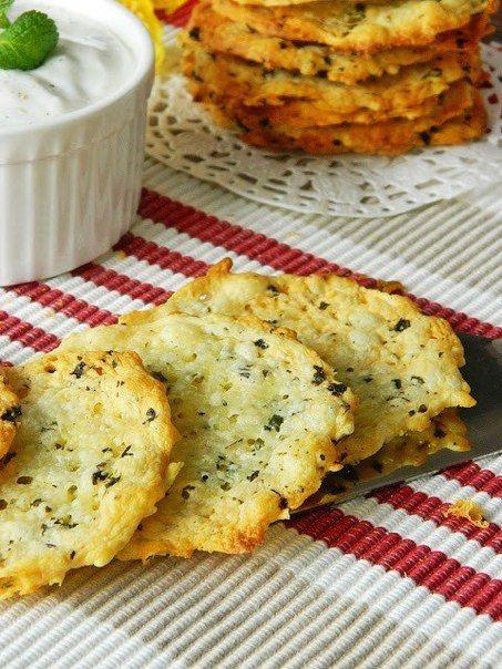 Хрустящие сырные крекеры! 10 минут - 2 ингредиента!
