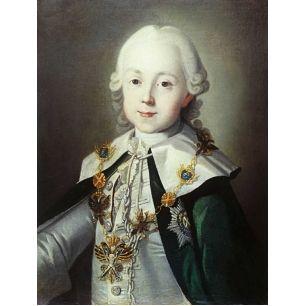 Paul I of Russia as a boy |  Original painting by Carl-Ludwig Johann Christinek