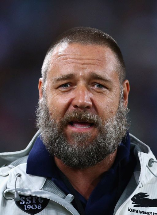 Surprising new look for big-bearded Russell Crowe. Zach Galafianakis eat your heart out.
