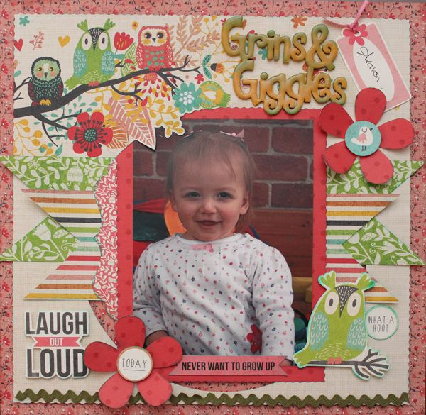 Grins and Giggles - double layout side 2 Designed by Carol Barron www.paperroses.com.au