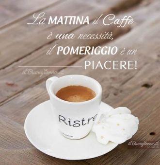 La mattina il caffè è una necessità