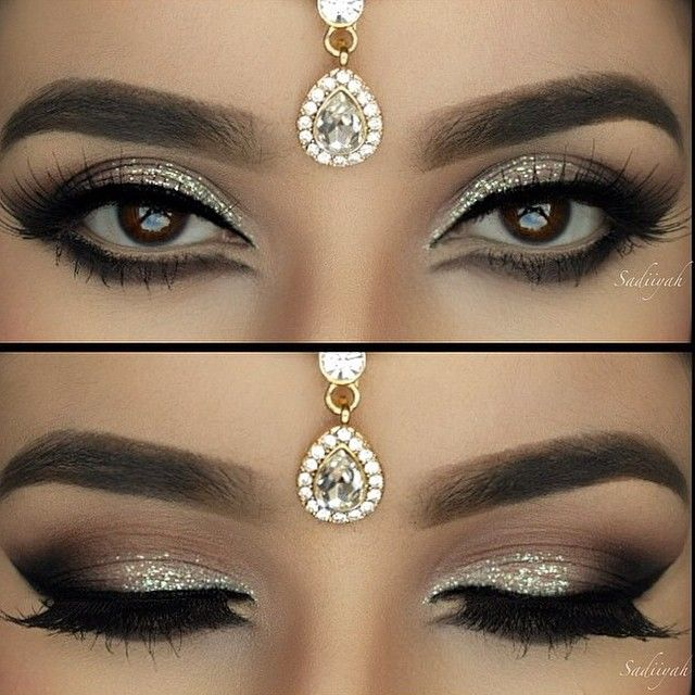 Arabian inspired makeup look - neutral with a little bit of sparkle