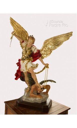 Statua San Michele Arcangelo Resina col. 60cm
