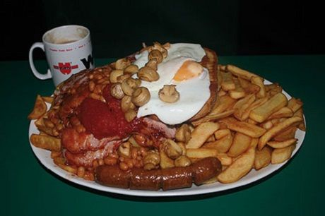 5 of the best Man vs. Food challenges in London. Fat Boys Café, Croydon.