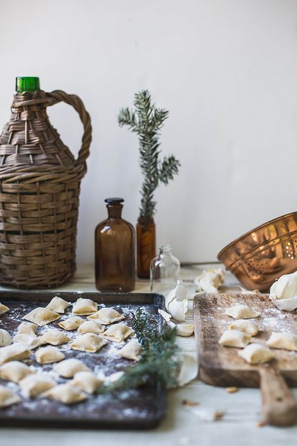 Celery Root & Goat Cheese Agnolotti and Parsley Brown Butter & Shiitakes / by Beth Kirby
