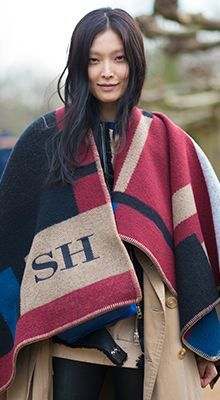 Burberry new season personalised blanket poncho | Global Blue