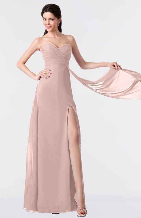 638dfe380f ColsBM Vivian Dusty Rose Modern A-line Sleeveless Backless Split-Front  Bridesmaid Dresses