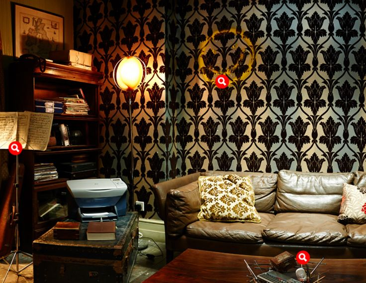 360° of Sherlock's apartment—love this space! | Home Sweet ...