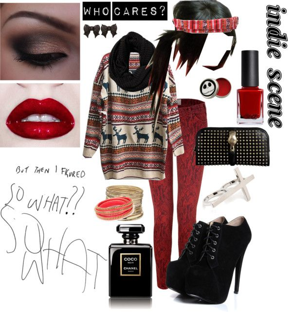 """""""""""Indie Scene"""" Style"""" by kissaiskannible on Polyvore  W/out accessories (besides bandaner)"""