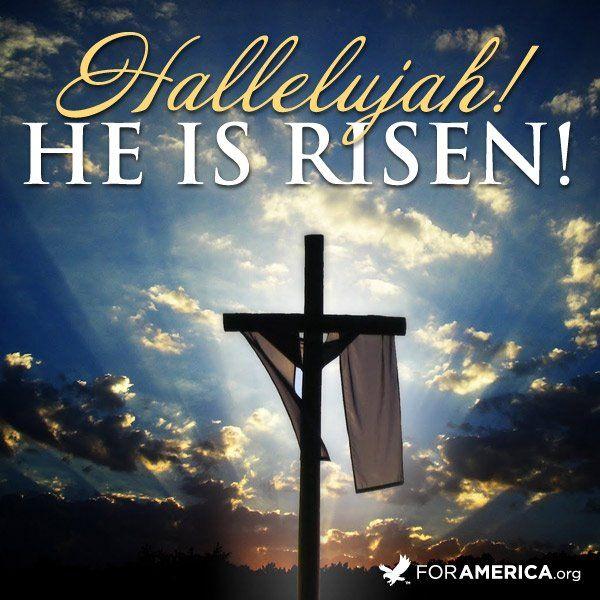 PRAISE GOD!!  JESUS CHRIST HAS RISEN AS HE PROMISED!!!