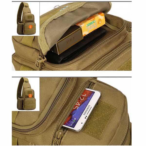 Men's Tactical Shoulder Bag Backpack Sling Chest Bag Assault Pack Messenger Bag
