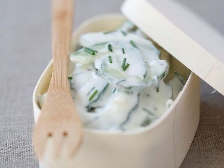 Salade de concombre au fromage blanc