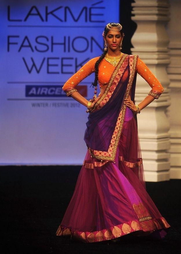 India's Fashion Week #lehenga #choli #indian #shaadi #bridal #fashion #style #desi #designer #blouse #wedding #gorgeous #beautiful