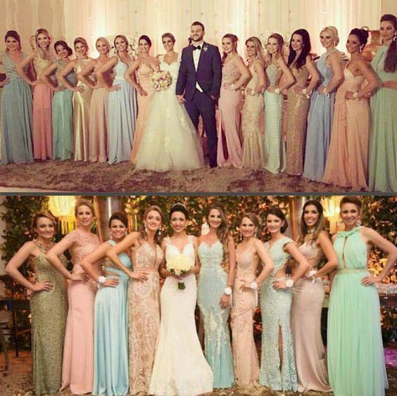 Madrinhas de Candy Colors - Madrinhas de casamento