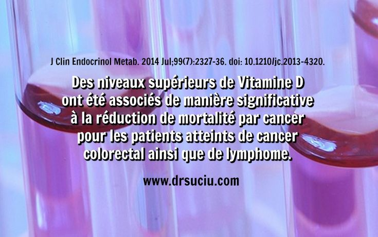 Photo Plus de vitamine D, moins de mortalité par cancer - drsuciu