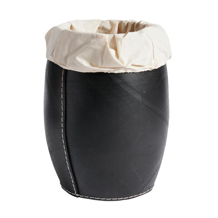 Basket Laundry Rubber Black