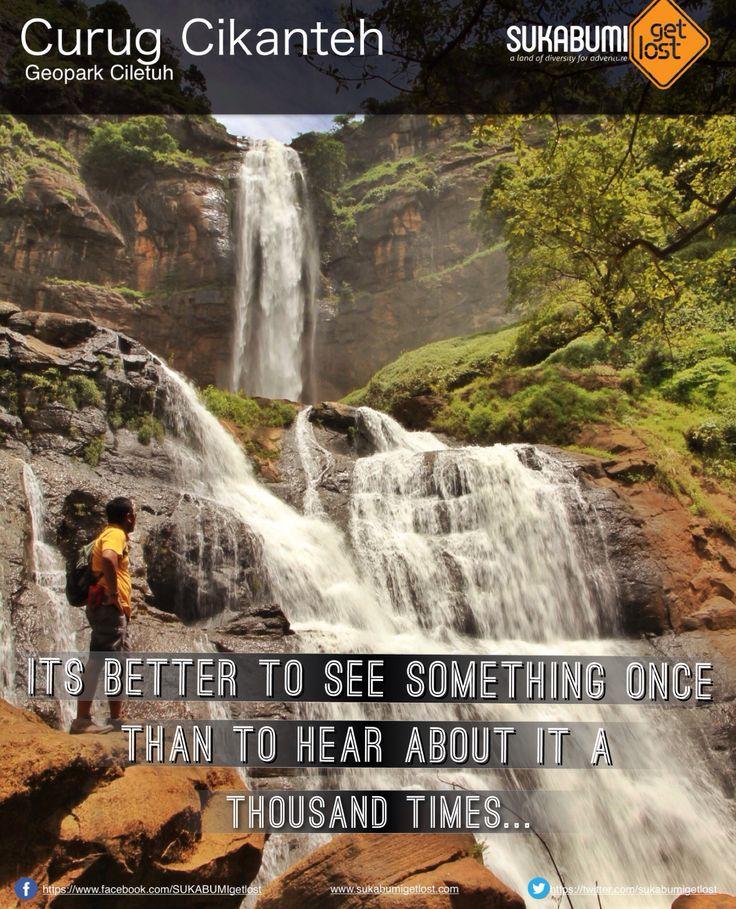 Curug (air terjun) Cikanteh 1 dari sekian banyak air terjun yang terdapat di kawasan taman bumi ciletuh