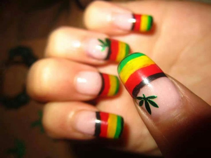 Jamaican Nail Art Design Smart Quotes For All