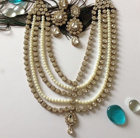 Indian Bridal Wedding Pearl Rani Haar Choker Necklace Sets: 7 Best Rani Haar Images On Pinterest