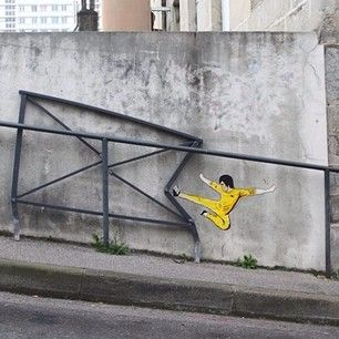 Super kick karate | 29 Clever Works Of Graffiti That Vastly Improved Their Surroundings | Street Art