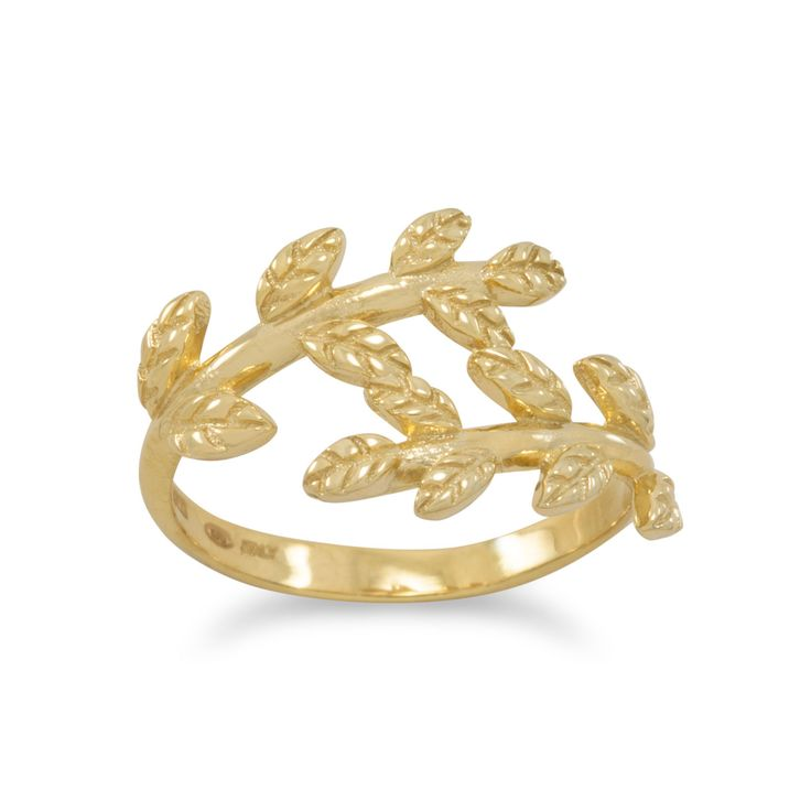 best 20 wreath rings ideas on leaf ring gold