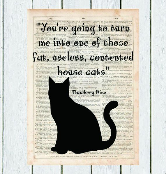 Thackery Binx Hocus Pocus citazione stampa di MySilhouetteShoppe