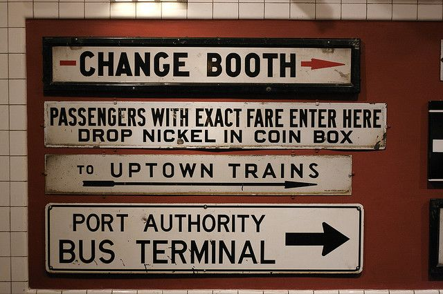 vintage train station signs for passengers
