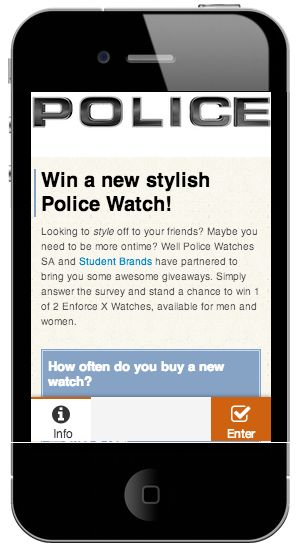@Student Brands giveaway #Policewatches competition #Mobi website