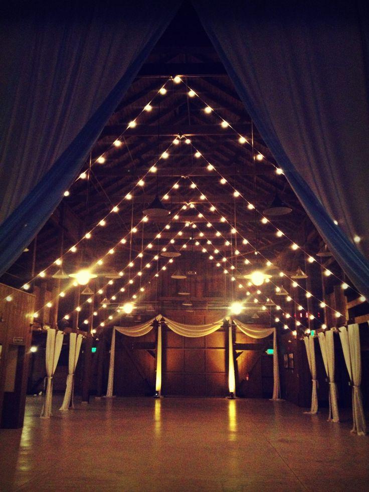 barn wedding, string lighting, barn draping, Camarillo Ranch, www.partypleasers.com