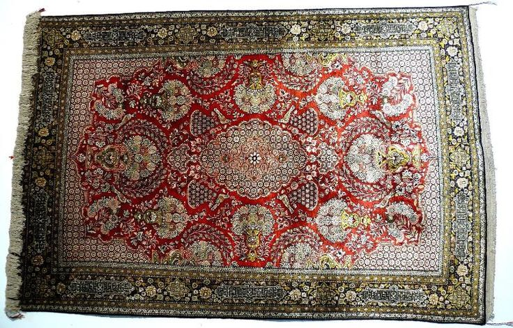 Orientteppich Ghom Qom Seide superfein (T034)