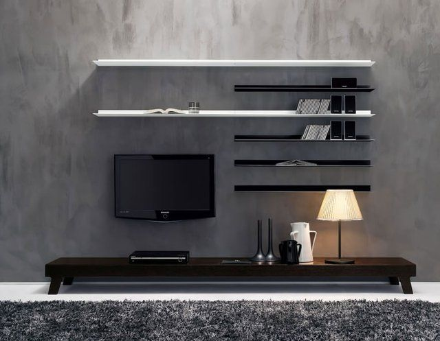 2 fancy minimalist wall unit by