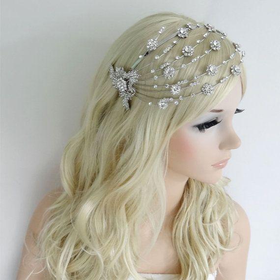 Gorgeous Swarovski Crystal Bridal Headband Tiara by Voguejewelry4u, $44.99