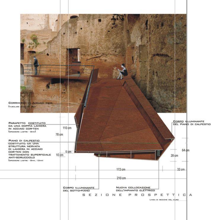 Nemesi Studio, Luigi Filetici · Nuova Passerella Pedonale Ai Mercati Traianei_roma · Divisare