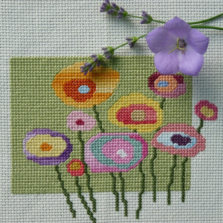 Cross+stitch+flowers+patterns