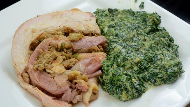 Creamy Cheesy Spinach - My go to keto side; so easy, so good! http://cavemanketo.com   Keto ...