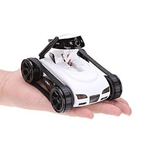"""Highlight features"" WildGrow Wireless Mini RC Tank with 0.3MP HD Camera 777-270 Wifi Remote Control by iPhone, iPad, Android-White"