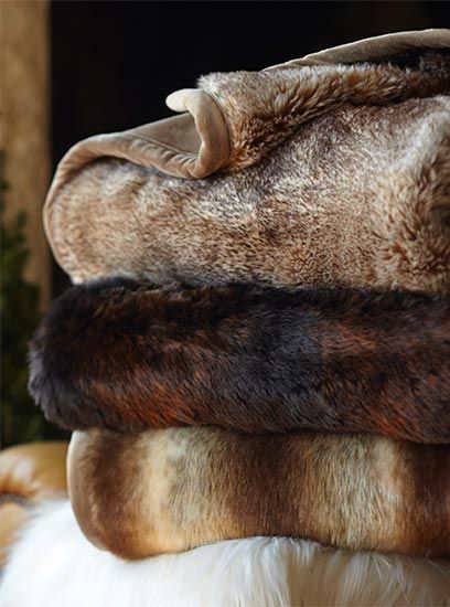 .Fur Throws #winterwishes: Brown Fur, Barn Faux, Winter Lodge, Faux Fur Throw, Pottery Barn Throws, Fur Blanket, Pottery Barn Fur