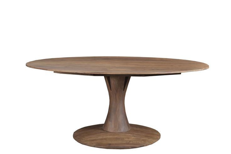 """Aspen Ovan Dining Table - Light Brown Matte Dimensions: WDH"""": 71 x 40 x 30 Made with Acacia Wood Light Brown Matte Finish"""