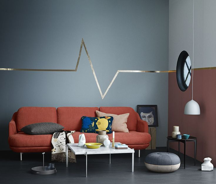 3-seater Lune™ in the colour Gingersnap surrounded by Objects
