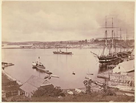 Circular Quay, Sydney from Campbell's Cove ... ca. 1877 ... sl.nsw