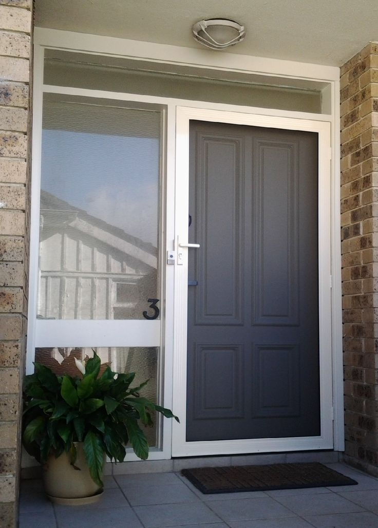 9 best images about screen doors on pinterest aluminium for Hinged screen doors for french doors